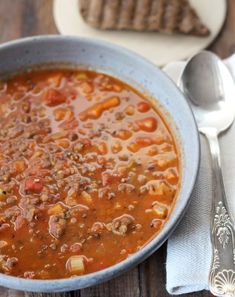 New Recipes: Green Lentil Soup, Rustic Tart with Pesto