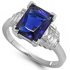Elegant Simulated Emerald Cut Simulated Amethyst Baguette 5 Stone Cz 925 Sterling Silver Ring Size 10 -- Learn more by visiting the image link. Emerald Cut Engagement, Gemstone Engagement Rings, Vintage Engagement Rings, Wedding Engagement, Wedding Rings, Size 10 Rings, Sterling Silver Rings, Baguette, Diamond Jewelry