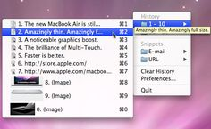 ClipMenu - a simple, easy-to-use clipboard program for the Mac that is solid, versatile, and FREE...