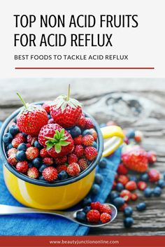 Discover the best non acid fruits for acid reflux!