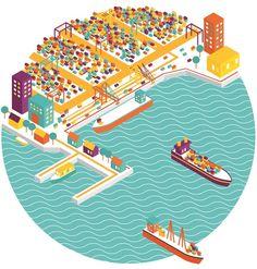 Colorful Maritime by Fellicia Yonata, via Behance