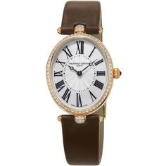 Frederique Constant Ladies' Classics Art Deco Rose Gold Diamond Watch (700.240 RUB) ❤ liked on Polyvore featuring jewelry, watches, art deco jewelry, diamond bezel watches, frederique constant watches, 18 karat gold jewelry and buckle watches