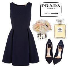 """Elegant style,Mode #prada #dior #chanel"" by alekyanofficial on Polyvore featuring мода, Yumi, Christian Dior, Prada, Diane James и Chanel"
