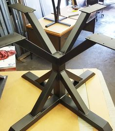 Square Trestle Table Base by DVAMetal on Etsy