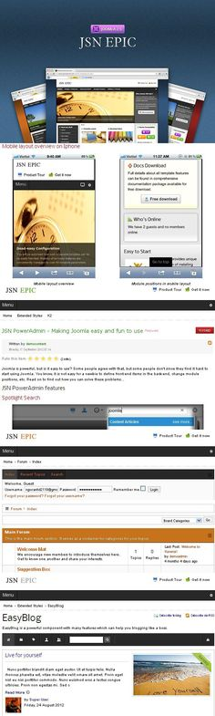 JSN Epic is a clean and professional looking Joomla template designed mainly for corporation websites. Equipped with powerful features, this template allows you Live For Yourself, Improve Yourself, Joomla Themes, Seo Techniques, Joomla Templates, Web Browser, Search Engine, Typography, How To Get