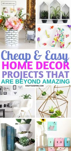 AMAZING cheap DIY home decor projects you'll really love! Great ways to make your home decor look stunning while on a budget! AMAZING cheap DIY home decor projects you'll really love! Great ways to make your home decor look stunning while on a budget! Diy Home Decor Rustic, Diy Home Decor On A Budget, Diy Home Decor Projects, Easy Home Decor, Cheap Home Decor, Country Decor, Decor Crafts, Decor Ideas, Country Living
