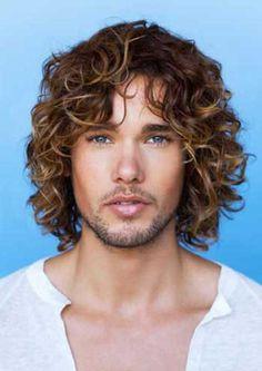 Guys Long Curly Hair