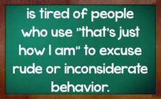 Inconsiderate people