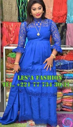African Lace Styles, African Print Dresses, African Dress, African Prints, African Attire, African Wear, Blue Fashion, Fashion Outfits, African Fashion Ankara