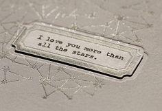 Letterpress + typewritten message by Lisa Spangler