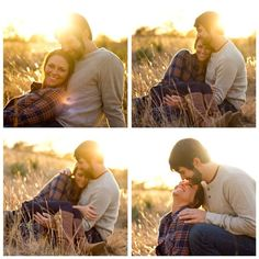 Outdoor engagement photo ideas - sunset