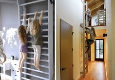 Indoor Climbing Ladders for Kids. They are obsessed with climbing, monkey bars, and doing pull ups on my pull up bar!