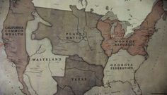 Revolution:  This is the Map, after the electricity went out.  *Shame on NBC for canceling.  We want Revolution, back!