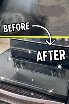 Cleaning Flat Top Stove, Clean Stove Top, Move Out Cleaning, Deep Cleaning Tips, Kitchen Cleaning, Green Cleaning, House Cleaning Tips, Cleaning Hacks, Organizing Tips