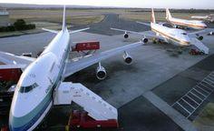 Air New Zealand 747-219 at Perth Airport circa mid 1980's. Image via google
