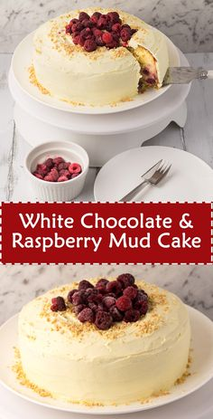 White Chocolate & Raspberry Mud Cake