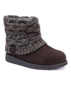2418421be107 ... LUKS Patti ankle boots for a casual and comfortable look. The sweater  knit cuff