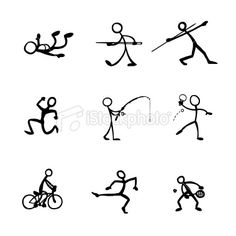 sports stick figure clip art | Related Pictures Sport funny stick figures