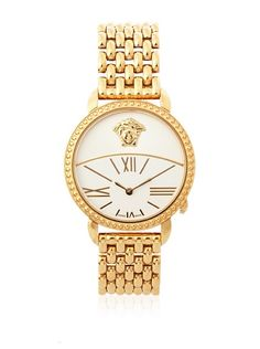 43561a4ef68 Versace Women's 93Q80D002 S080 Krios Rose Gold Ion-Plated White Enamel and  Sunray Dial Watch at MYHABIT