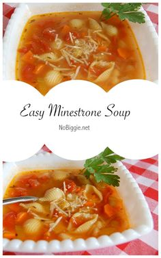 Easy Minestrone Soup | NoBiggie.net | so easy and so good!