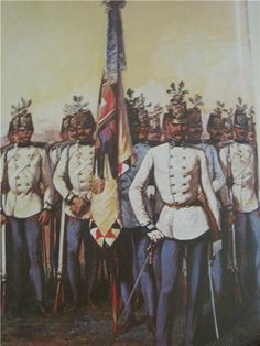 A fine depiction of Austrian line infantry in full dress coats. Whenever…