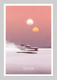 Star Wars Tatooine Inspired 13x19 Inch Graphic Print
