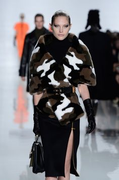 Camouflage fur at Michael Kors