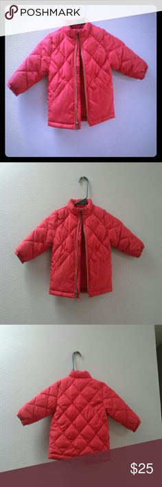 Baby gap quilted puffer Really cute quilted 12-18 month coat No hood Red color  Zipper works No flaws, stains, rips GAP Jackets & Coats