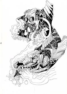 #ink #inkfishandskull #illustration #MelicsRichardArtwork