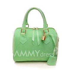 GearCloset.net - Elegant Women s Street Level Handbag With Candy Color and Pendant Design