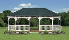 Vinyl Oval Gazebos - North Country Sheds