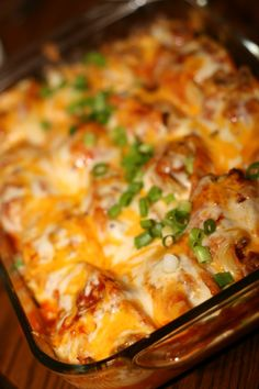 "Mexican Stuffed Shells--maybe make it with medium shells and make it like ""ziti"""