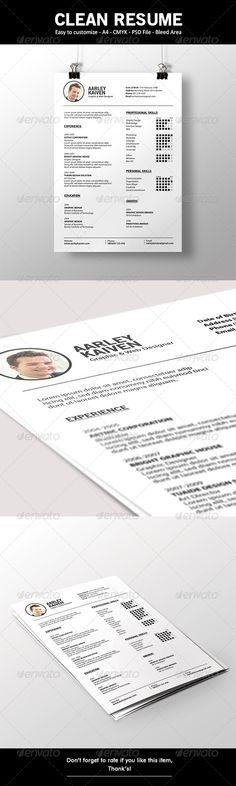 Clean Resume  #GraphicRiver