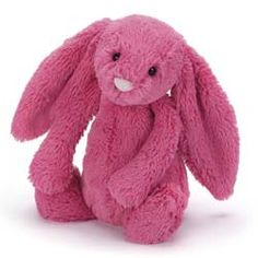 This is the brand new Spring 2015, Bashful Strawberry Bunny, available in two sizes medium £13.95 and small £9.95