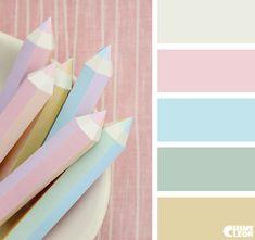 Color Palette, pastel, pencils.