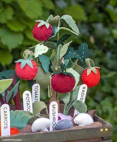 DIY - Felt Tomato Plant Tutorial