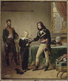 Il generale Bonaparte consegna a Eugenio di Beauharnais la spada del padre