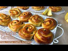 BRIOCHE GIRELLE SOFFICISSIME alle MELE UVETTA AMARETTI CREMA - BRIOCHE ROLL - Tutti a Tavola - YouTube Baby Cupcake, Cupcake Cakes, Great Desserts, Great Recipes, Brioche Bread, How To Make Bread, Sweet Bread, Cake Pops, Muffin