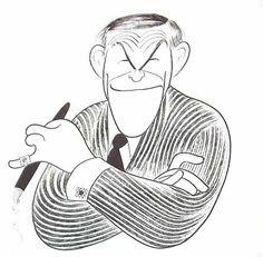 George Burns, caricature by Al Hirschfeld