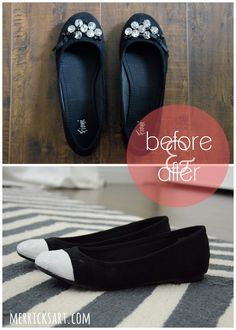 Capped Toe Shoe Refashion