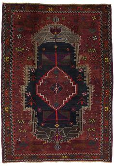"""Lori - Bakhtiari Persian Carpet 8'1""""x5'8"""" $930"""