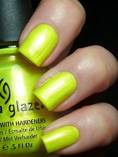 China Glaze Summer Neons Swatches (Fashion Polish) Sun Kissed
