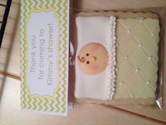 Here's another baby shower cookie that I made!  : )