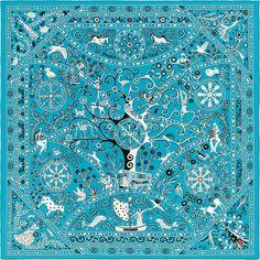 Scarf 140 Hermès   Peuple du Vent c w 17 Peuple du Vent Hermes giant bcfc3a7f954