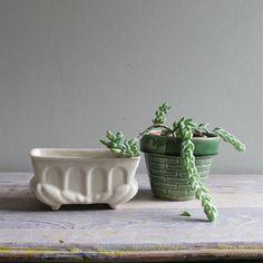Cute little vintage planters