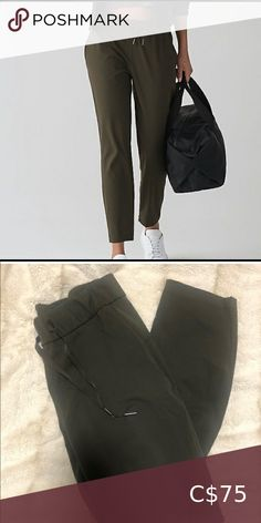 "On the Fly Pant I believe they are a 27"" inseam, they are not full length. In excellent shape. lululemon athletica Pants & Jumpsuits Trousers Lululemon Pants, Lululemon Athletica, Pant Jumpsuit, Trousers, Dance Pants, High Rise Pants, Grey Boots, Work Pants, Black Pants"