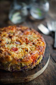 Rústica: Frittata Brassica con Puerros & Tomatitos