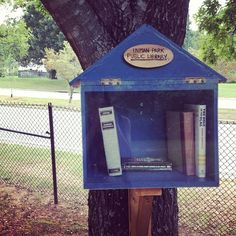 Little Free Library | Freedom Park Path (near the entrance from Alaska Avenue) - so glad someone took a picture of this!