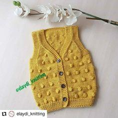 Saco color ocre de bebé tejido a dos agujas Crochet Baby Clothes, Sweaters, Instagram, Tops, Women, Color, Ideas, Fashion, Toddler Girls