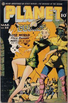 Planet Comics – Page 3 – Pulp Covers Scary Alien, Planet Comics, Sci Fi Comics, The Lost World, Comic Page, Comic Book, Science Fiction Art, Pulp Art, Vintage Comics